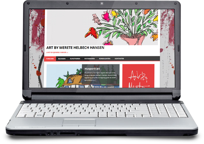 Hjemmeside design for kunstnere i wordpress og weebly