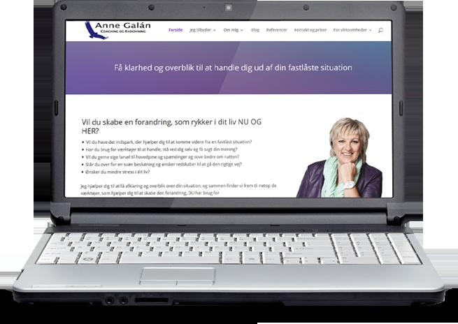 Hjemmesidedesign for coaching